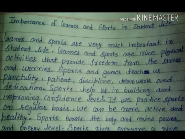 How To Write Paragraph On Importance Of Games And Sports On Student Life Youtube