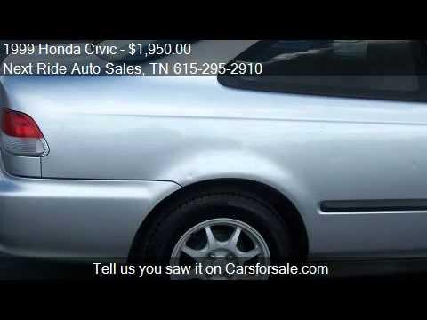 1999 honda civic hx coupe for sale in murfreesboro tn for Next ride motors murfreesboro