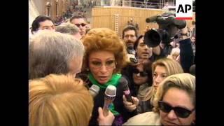 Italy: Rome: Funeral Of Actor Marcello Mastroianni - 1996