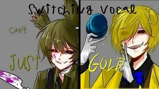 ⧔Nightcore⧕ Just gold {Switching Vocals} lyrics/FNAF