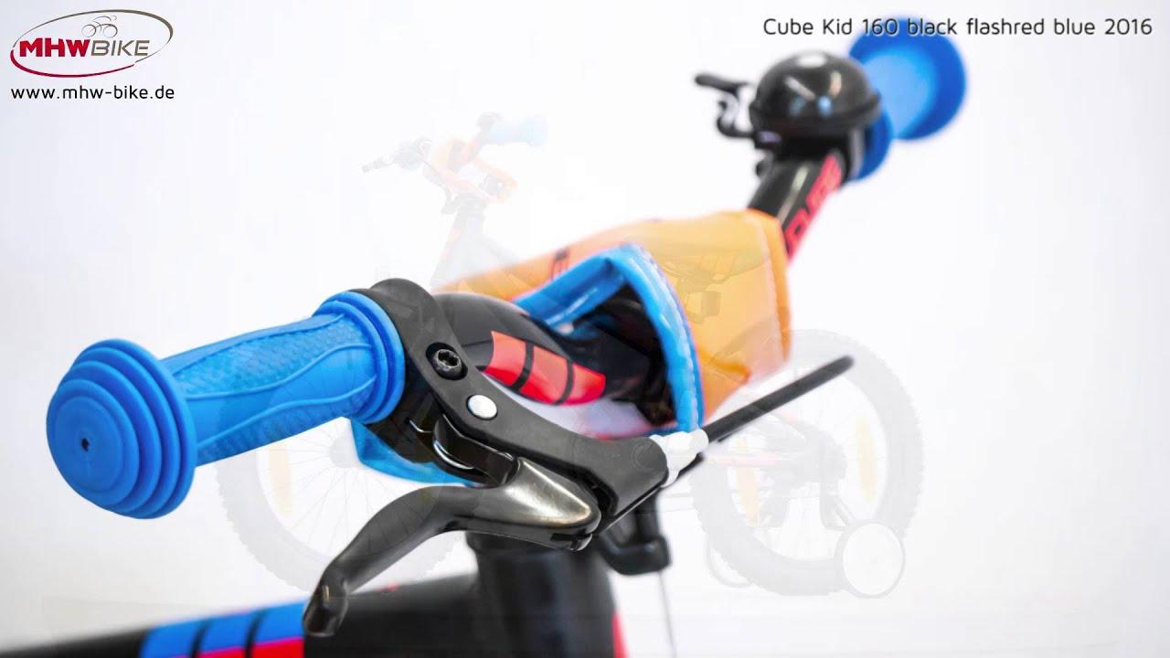 54c092a9f5f Cube Kid 160 black n flashred n blue 2016 - MHW Bike-House GmbH ...