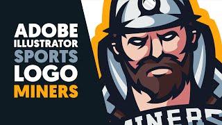 Adobe Illustrator | Mascot / Sports Logo | MINERS | Shard