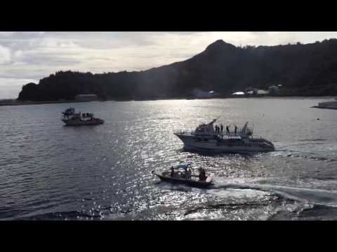Farewell to Ogasawara (Bonin Islands)