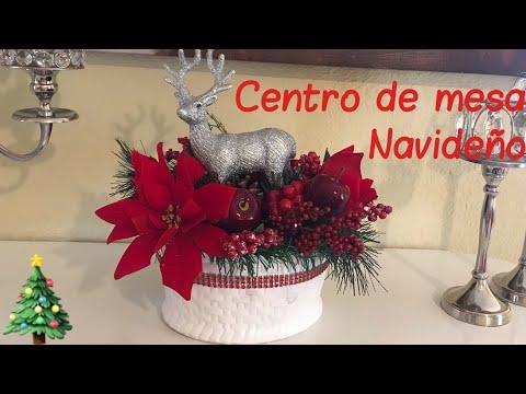 Diy centro de mesa de navidad 🎄