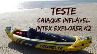 caiaque inflvel intex explorer k2 kayak teste