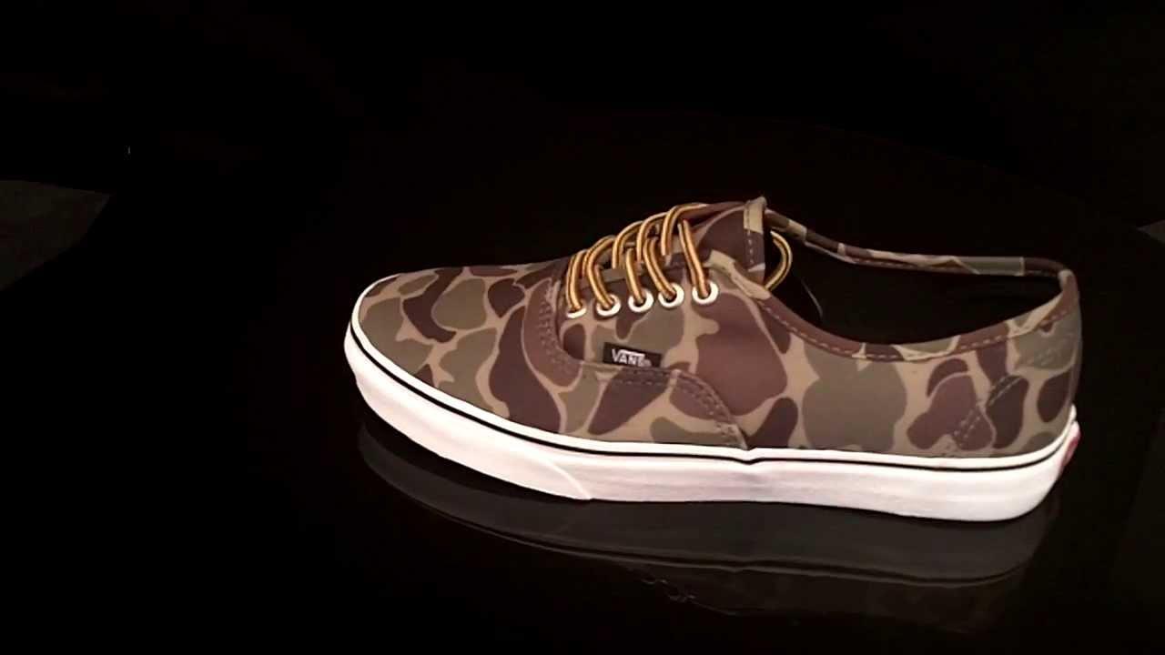 3298ea2f0518 Vans Authentic Camouflage Marsh sneaker Waxed Canvas VTSV8XO