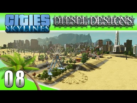 Cities: Skylines: EP08: Boardwalk Pier! (City Building Series 60FPS)