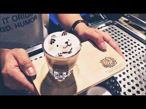3d Latte Art - Chiba Inu