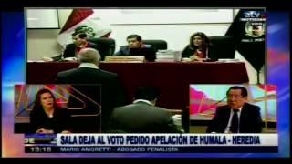 Amoretti Sala deja al voto pedido apelación de Humala Heredia ATV + 31 07 17