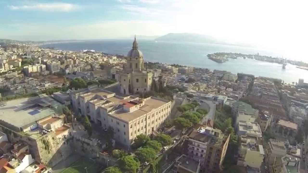 Messina panoramica vista dall'alto sopra Cristo Re - YouTube