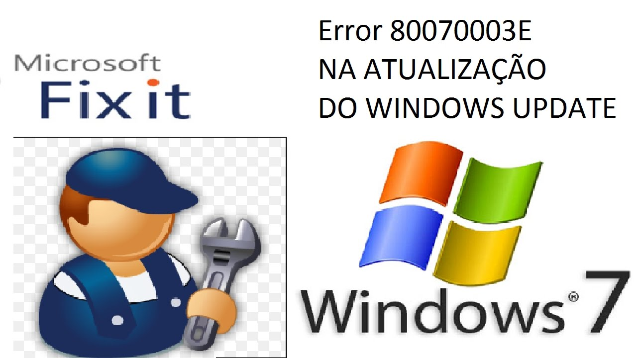 Erro do Windows 7 80070003 | Windows Update com Erro | Update do Windows