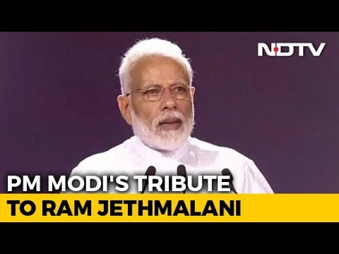 """His Pioneering Work Will Live On"": PM Modi's Tribute To Ram Jethmalani"