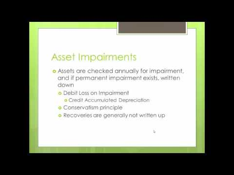 Asset Impairment and Disposal