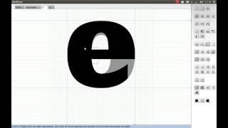 Create 'e' from 'o'
