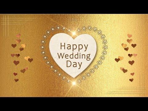 👰🏼🤵🏼Happy Wedding Day!👰🏼🤵🏼Animation Greeting Cards #4K #WhatsApp