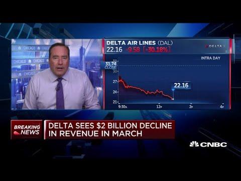 Delta sees $2 billion decline in revenue during March