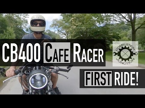 cafe racer build  cb/cm400 project  motovlog  first ride!! ep19 - youtube