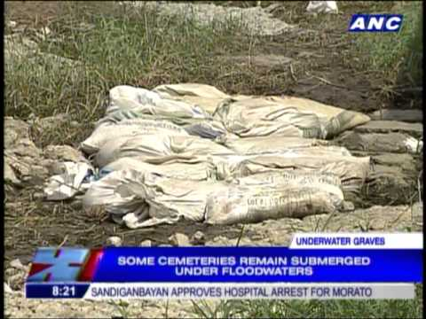 Some cemeteries submerged in floods
