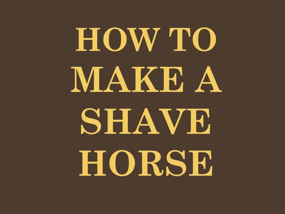 So you want to make a shave horse youtube for What can you make out of horseshoes