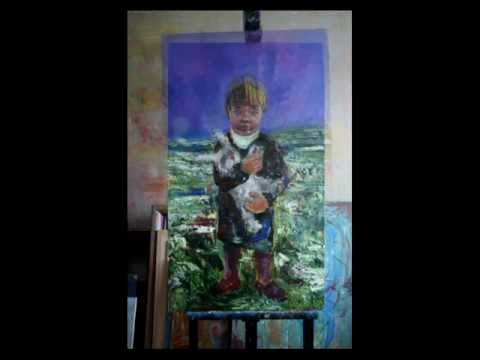 Little girl, time lapse oil painting technique