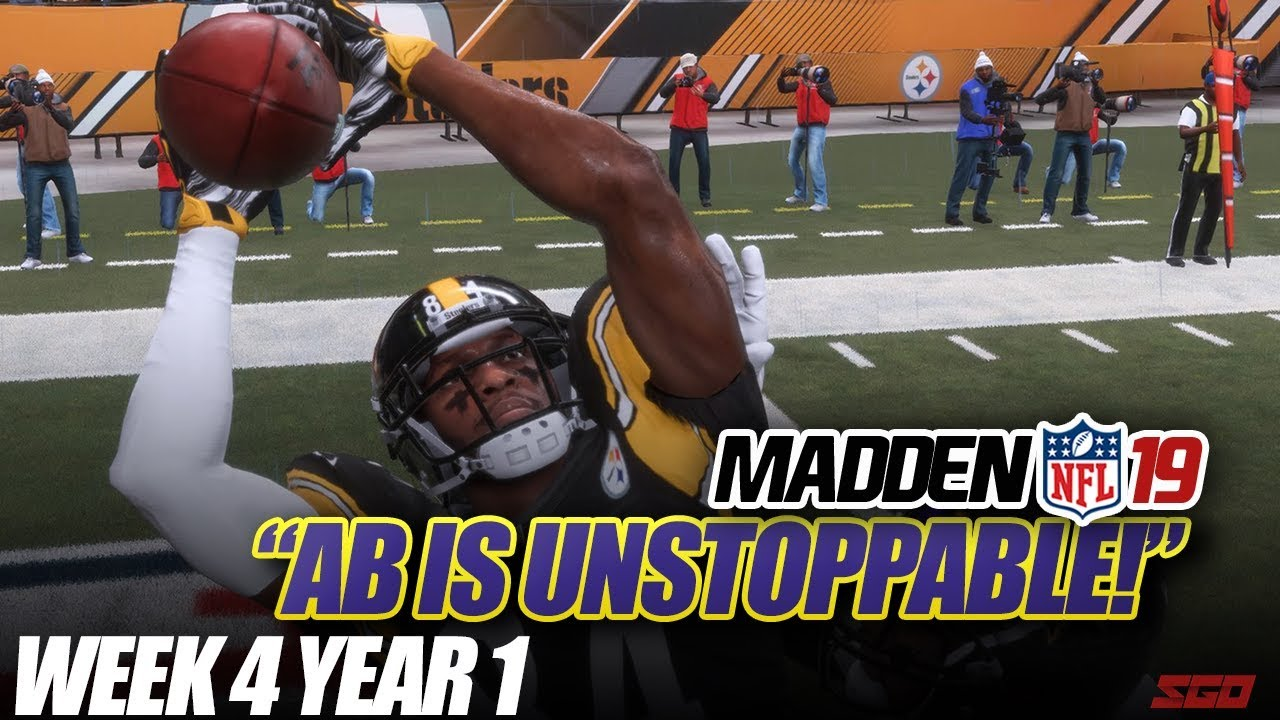 Madden 19 Connected Franchise   AB IS UNSTOPPABLE! Ravens vs Steelers   Ep.4