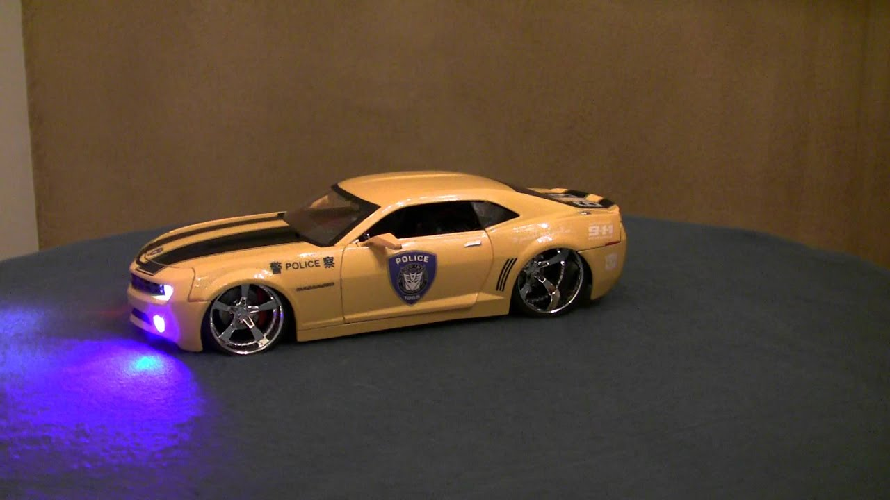 1 18 Chevy Camaro With Transformers Logo Police Car Multi