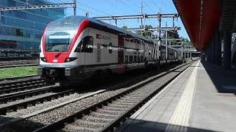 Panorama ferroviaire estival dans le canton de Genève. HD