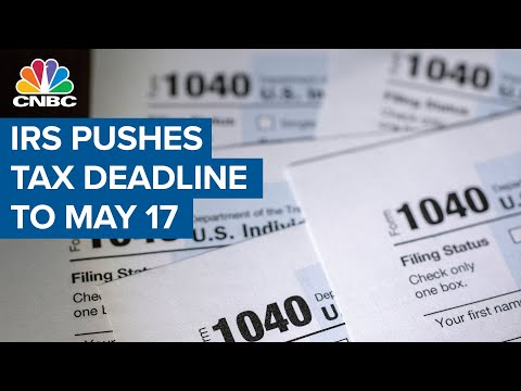 IRS to push back April 15 tax deadline to May