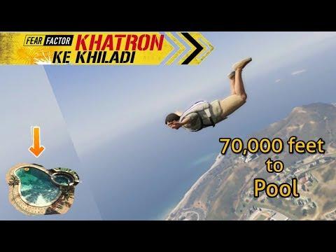 Gta 5 Khatron Ke Khiladi Ep.1| 70,000 ft jump to pool. thumbnail