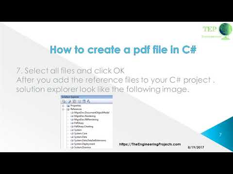 093 - How to create a pdf file in C# - YouTube