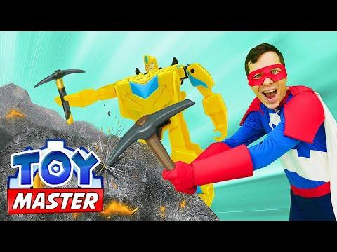 Игры Трансформеры - Автобот Бамблби ищет Сокровище! – Видео шоу онлайн для мальчиков Той Мастер.