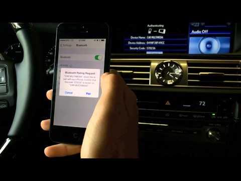 Lexus Ct Hybrid Murray >> Bluetooth Connect Blackberry with Lexus Navigation ...