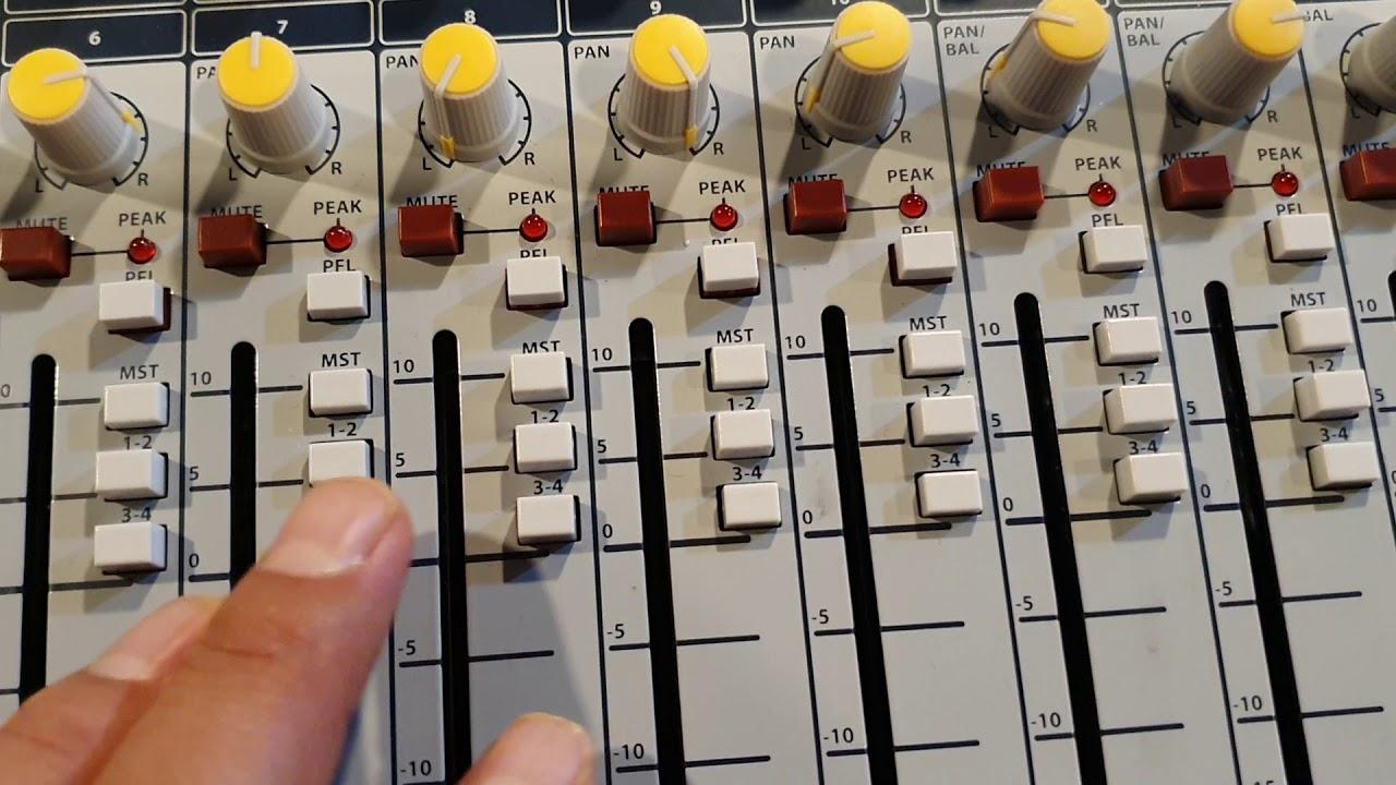 [음향강의] 10. 믹서에서 서브우퍼스피커 설정과 연결