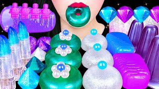 ASMR GALAXY FOOD MUKBANG *DONUT JELLY, EDIBLE LIPSTICK, GALAXY CANDY 갤럭시 캔디, 도넛젤리, 립스틱 EATING SOUNDS