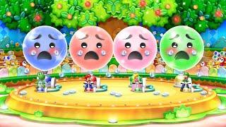 Mario Party 10 MiniGames - Mario Vs Wario Vs Luigi Vs Peach (Master Cpu)
