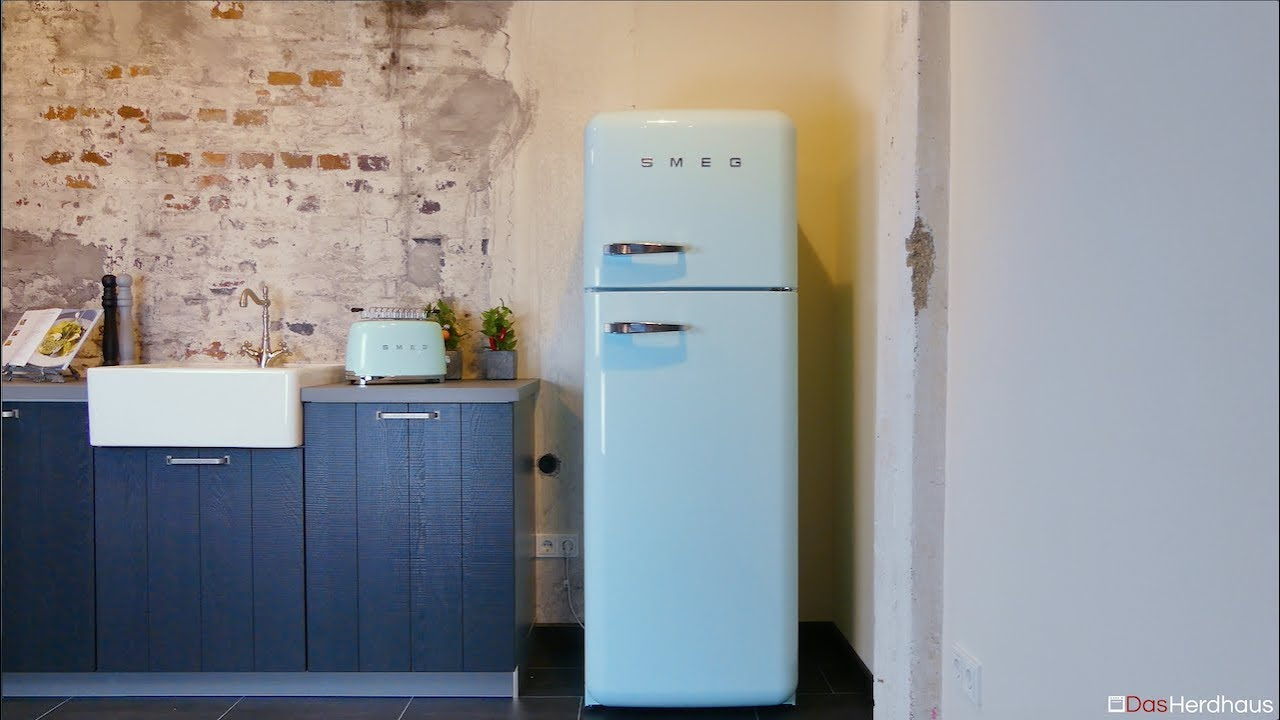 smeg fab30 retro k hlschrank fridge freezer youtube. Black Bedroom Furniture Sets. Home Design Ideas