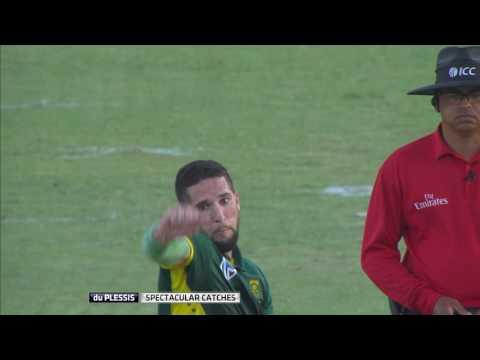 South Africa vs Sri Lanka - Faf du Plessis' spectacular catches