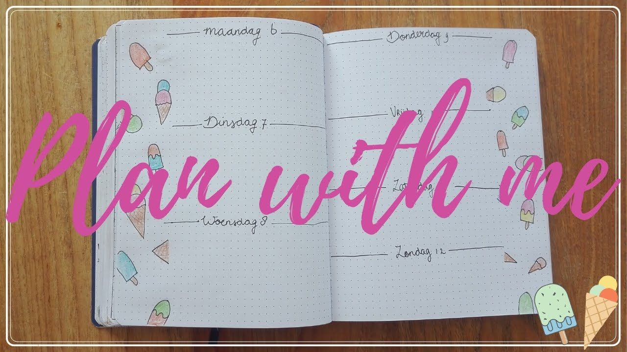 HOW TO: PLAN WITH ME JUNE | WEEK 28 LAY-OUT BULLET JOURNAL | SUMMER THEME