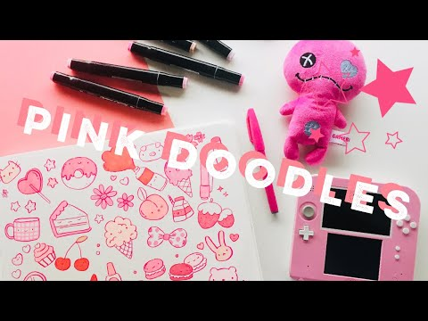 Using my 💕PINK 💕 markers to make PINK doodles! | Doodles by Sarah