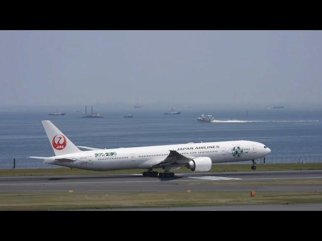 Japan Airlines Jal Sky Eco Jet Boeing 777 300 Er Departure 2019 05 10 11 54 Jst Haneda Airport Omyplane