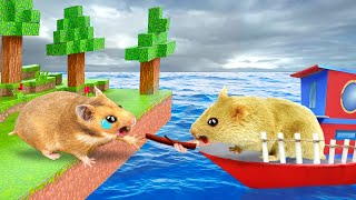MINECRAFT Maze Hamster Rescues Hamham 🧱 Funny Cartoon Pet Obstacle by Life Of Pets Hamham