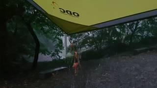 우중캠핑(폭우)