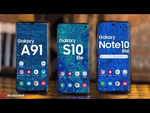 Samsung Galaxy A91 Galaxy S10 Lite Galaxy Note 10 Lite Get Ready Youtube