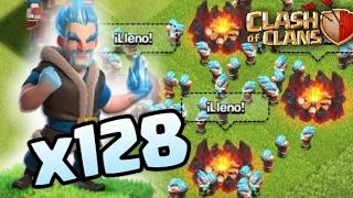 128 Magos de Hielo al FULL!!! Congelando Clash of Clans | Clash of Clans | Drauxer