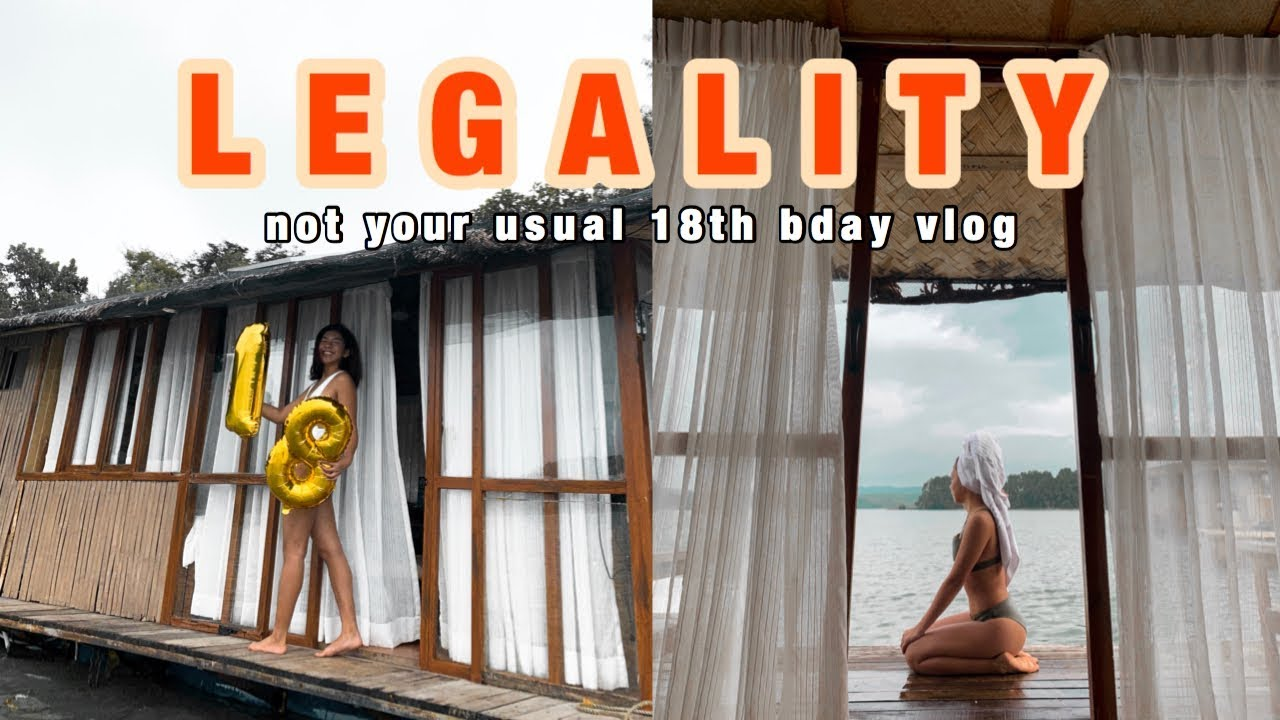 my 18th birthday vlog at aquascape lake caliraya   Olga ...