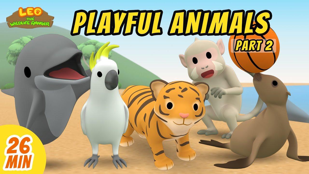 Playful Animals Minisode Compilation (Part 2/2) - Leo the Wildlife Ranger   Animation   For Kids