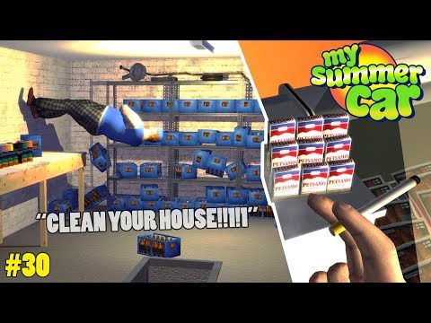 Cigarettes! Shower! - Cleaning the House | My Summer Car Beta