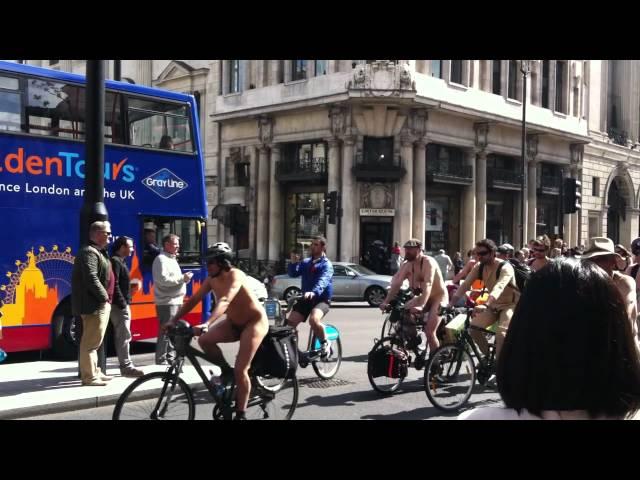 England, London, London Naked Bike Ride 2012