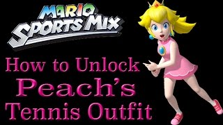How to Unlock Peach's Tennis Outfit - Mario Sports Mix