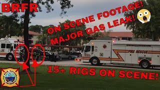 On Scene | MAJOR GAS LEAK IN APARTMENT COMPLEX! | 15+ Rigs On Scene! | Boca Raton Fire Rescue